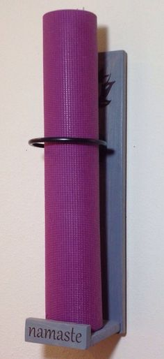 Yoga room decor Handmade Mat Holder Custom yoga decor by YogaWares