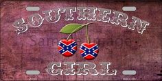 Southern Girl Decorative Sign Tag License Plate
