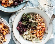 Vegetarian Recipes: A farm-to-table quinoa bowl with roasted veggies