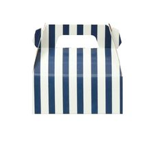 d798c0925d2 Items similar to Pack of 10 Navy Stripes Gable Boxes
