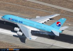 Korean Air Airbus A380 800 (HL7627) at Los Angeles Airport.