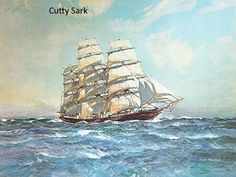 CUTTY SARK Collection of 4 Clipper Ship Prints by Hugh Knolly