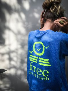 sweatshirt | cobalt blue | women collection | free in st barth | st barth lifestyle