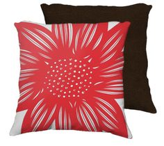 Start 22×22 Flowers Floral Botanical Red White Brown Back 631 Art Fall in love with our combination of super soft velveteen printed front and solid velveteen back.  You are buying the pillow cover only.  All cushion covers and pillow covers are made in Canada.  Home Decor, Pillow, Throw Pillow, Interior Design, Inspiration, Buy Pillows, Accent Pillows, Decorative Pillows, Designer Pillows.