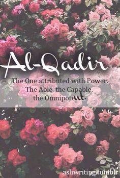 A beautiful name of Allah.