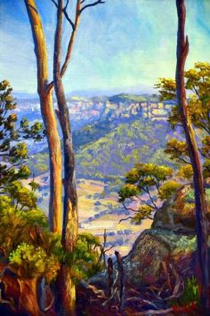 """""""Oil on linen - A Glimpse on the Wolgan Valley"""" by Christopher Vidal. Paintings for Sale. Bluethumb - Online Art Gallery"""