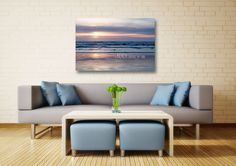 Beach Soothes My Soul Photographic Art Gallery CANVAS Print Sunset Photography Text Optional Pastel Serene Ocean Wall Decor Ready to Hang Lavender Blue Peach 8x10 8x12 11x14 12x18 16x20 16x24 20x30. While visiting with my friends about a recent beach trip, I talked about how the beach soothes my soul. Now I'm sharing the sentiment through my photography: The Beach Soothes my Soul Title: Beach Glow This canvas will be carefully shipped to you from my USA professional canvas lab in sturdy...