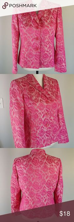 Le suit petite hot pink lined blazer Hot pink, fitted, fully lined blazer of 100% polyester. This is an excellent condition and is possibly a vintage piece. bust 39  Back length 21.25 Le Suit Jackets & Coats Blazers