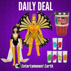 DEAL OF THE DAY  50% Off The Venture Bros. Collectibles Thursday, January 15, 2015  IN STOCK NOW! Enjoy 50% off these totally awesome The Venture Bros. collectibles for one day only! How's that for colorful? The mugs feature a stainless steel interior and a plastic exterior with cool retro-style images from the animated series. Get yours now! Limit 5 per person. http://tomatovisiontv.wix.com/tomatovision2#!action-figure/c1t9c