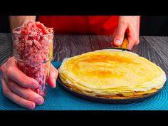 Przygotowuję naleśniki z mięsem tylko po to by kogoś zdziwić! Smaczny.TV - YouTube Crepes Rellenos, Pancakes, Breakfast, Recipes, Food, Salads, Sweets, One Pot Dinners, Entrees