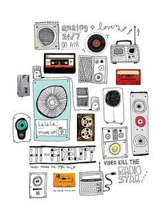 use this format of different technology - iphone, ipod, speakers, headphones, facebook etc