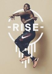 nike rise poster design poster Nike Bounce to this Advertising Campaign: By Bureau Borsche Sports Graphic Design, Graphic Design Trends, Graphic Design Posters, Graphic Design Inspiration, Sport Design, Sport Inspiration, Graphisches Design, Logo Design, Design Typography