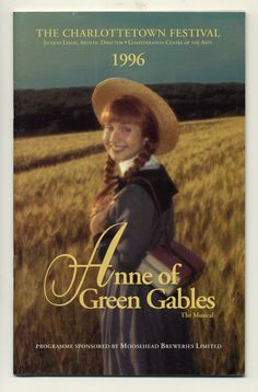 1996 brochure cover, Anne of Green Gables - The Musical™ at Confederation Centre of the Arts.