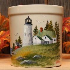 Lighthouse Crock