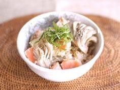 まいたけと鮭の、簡単!炊き込みご飯