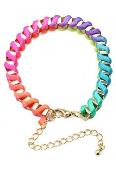 Neon Multi-Color Knit Bracelet