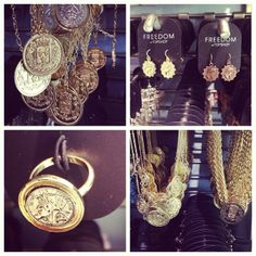 Stop tossing coins and bet on coin detailed jewellery. #topshop #jewellery #topshopoxfordcircus #coin #accessories #details #gold #silver