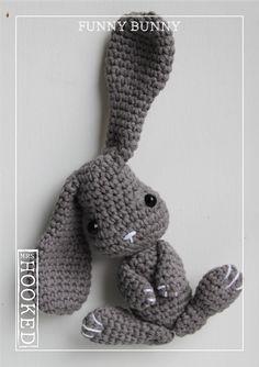 funnybunny, #haken, gratis patroon, Nederlands, Pasen, amigurumi, knuffel, decoratie, konijn, paashaas, #haakpatroon