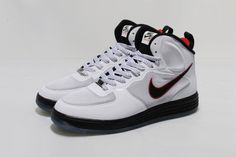 Nike Lunar Force 1 Mid White Black University Red 370826e82fb