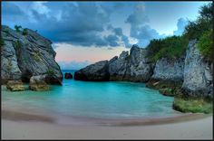 Jobson's Cove in Bermuda.  This was beautiful and one of my favorite beaches..very quiet and romantic..the water is like a bath