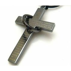 Trendy Cool Sliver Plated Cross Necklace for Men