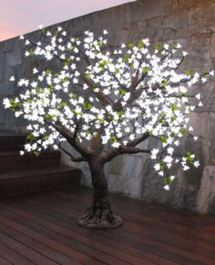 Allissias Attic Design & Vintage French Style — Blossom Tree with LED Lighting in 3 Sizes