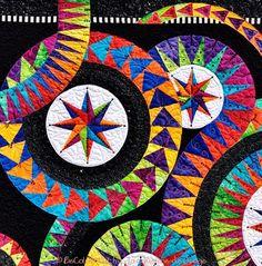 Detail 'Enchanting Stars', a Jacqueline de Jonge design