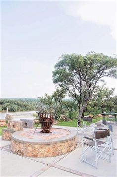 Close to nature at a true African Bushveld boma at a stylish self-catering lodge overlooking the Pilanesberg Mountains #southafrica