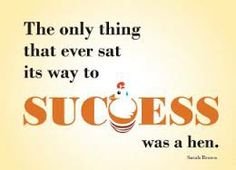 the only thing that ever sat its way to success was a hen