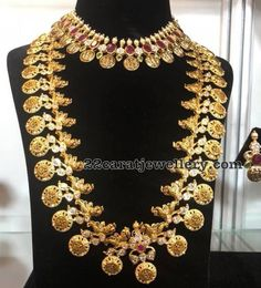 Peacock Lakshmi Haram and Necklace
