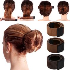 d3c7996fc Synthetic Wig Donut Headband Girls Magic Hair Bun Maker Women Hair  Accessories DIY Hairstyle Tool French Dish Bud Twist Hair Ban Review
