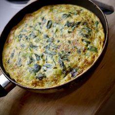Spinach and ricotta frittata