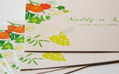 Faire part Corse Nature idylique Mariage creation sur mesure //// Wedding couture invitation by www.latelierdelsa.com