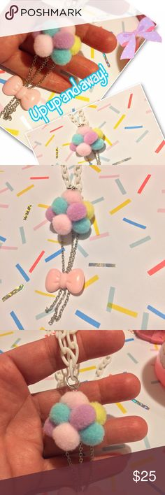 Kawaii balloons 🎈 necklace pastel cute fairy kei Handmade adorable balloons 🎈 necklace on white plastic chain. niftyvintagenecklace Accessories Jewelry