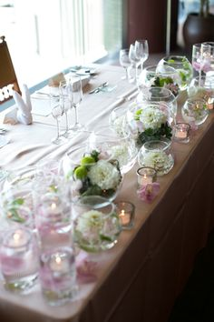 My Japanese wedding -groom and bride table decoration