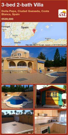 3-bed 2-bath Villa in Doña Pepa, Ciudad Quesada, Costa Blanca, Spain ►€539,000 #PropertyForSaleInSpain