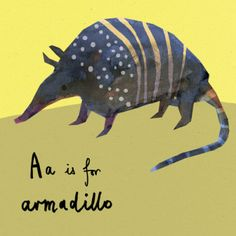 A little armadillo for my wall!