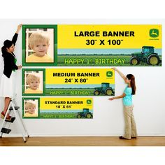 John Deere 1st Birthday Personalized Photo Banner, 76802