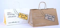 TAKE AWAY paper carrier bags, the new exclusive by Taffarello.