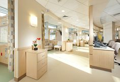 Hygienic, Space oriented, Health Friendly interior designs for Health Cares.