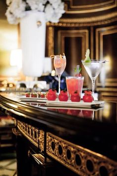 I wouldn't mind stopping for a champagne cocktail or two at Bar 288 at Le Meurice Hotel in Paris - I think it would be rude not too!