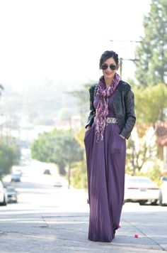 maxi dress in the winter
