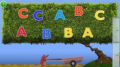 """SALABY """"Plukk bokstaver"""" Eit spel der ein skal hjelpe ei rotte med å samle bokstavar. A,b og c."""