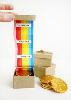 Printable Pot o' Gold Rainbow Box | Oh Happy Day!