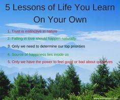 5 Lessons of Life You Learn On Your Own - Womanatics
