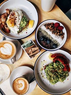 Avocado toast , Acai bowls and Cortados from Two Hands NYC