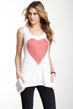 Go Couture Red Heart Tank on HauteLook