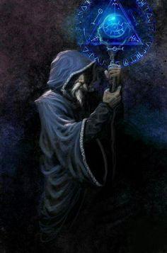 m Wizard Staff Robe Tarot - El mago by demitrybelmont Dark Fantasy, Medieval Fantasy, Dungeons And Dragons, Fantasy Artwork, Mago Merlin, Mago Anime, Wizard Tattoo, Magia Elemental, Fantasy Wizard