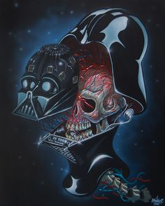 Pop Culture Dissections You Won't See in Any Medical Books || If you've ever wondered what makes certain pop culture icons tick, these intricate and slightly disturbing portraits are certainly for you. CreatedbyAustrian urban/graffiti artist and illustrator Nychos, they ensure you'll never be able to look at superheroes or Disney characters the same way again.
