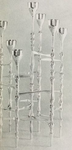 Sterling silver candelabra - Robert Welch
